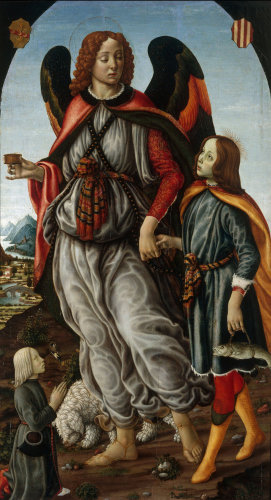 Tobias and the Angel by Sandro Botticelli