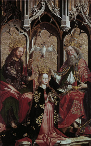 Coronation of the Virgin Mary by Michael Pacher
