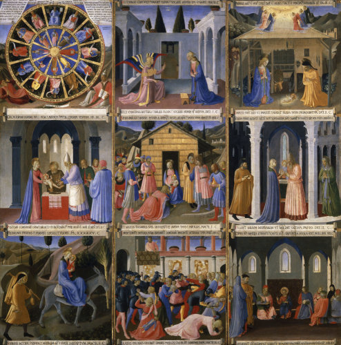 The Mystical Wheel by Attributed to Fra Angelico