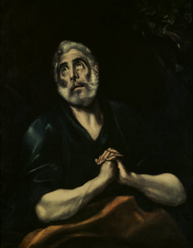 The Repentant Peter by El Greco
