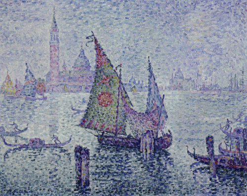 The Green Sail, Venice by Paul Signac