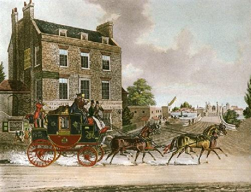Quicksilver Royal Mail (Restrike Etching) by James Pollard