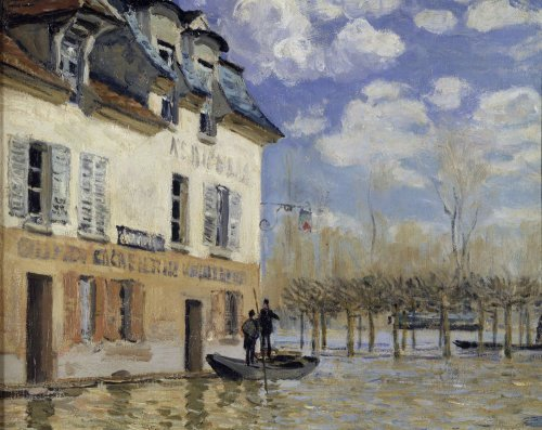 La Barque during the flood at Port-Marly by Alfred Sisley