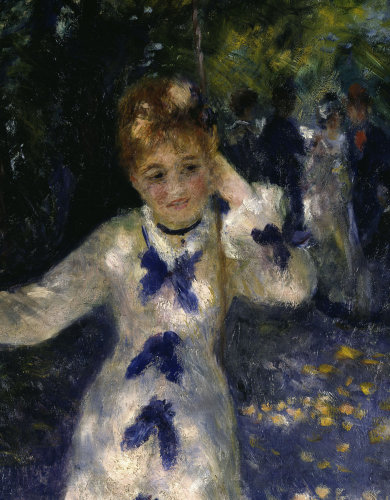 The Swing (detail) by Pierre Auguste Renoir