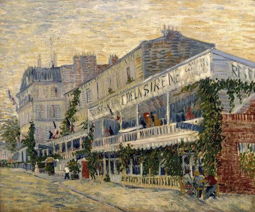 Restaurant de la Sirene at Asnieres 1887 by Vincent Van Gogh