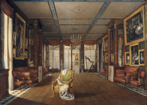 Interieur of Malmasion music room by Auguste Simon Garneray