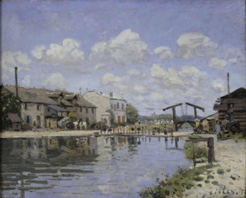 Saint-Martin canal by Alfred Sisley