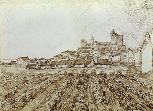 View of Saintes-Maries by Vincent Van Gogh