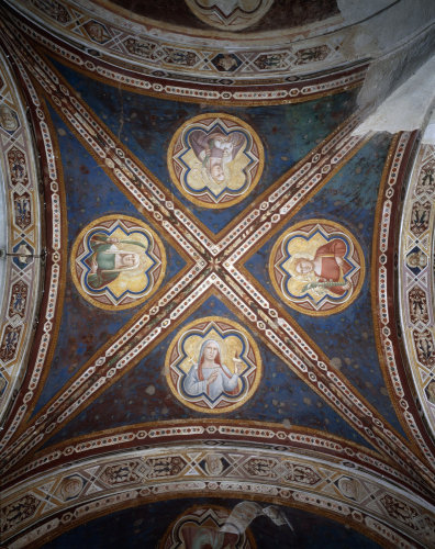 Frescoes in S.Miniato al Monte by Taddeo Gaddi