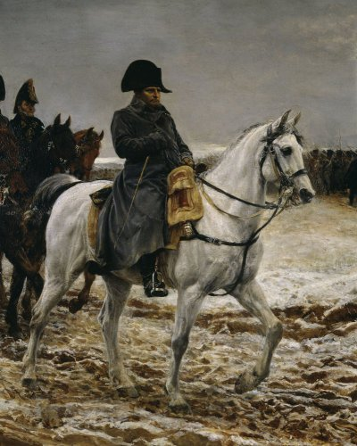 Campagne de France Napoleon (close-up) by Jean-Louis Ernest Meissonier