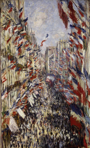 La Rue Montorgeuil Paris by Claude Monet