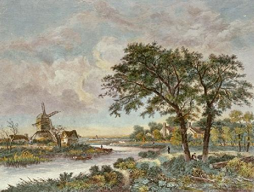 Mill in Norfolk (Restrike Etching) by Crome