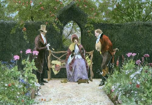 Rivals (Restrike Etching) by Walter Dendy Sadler