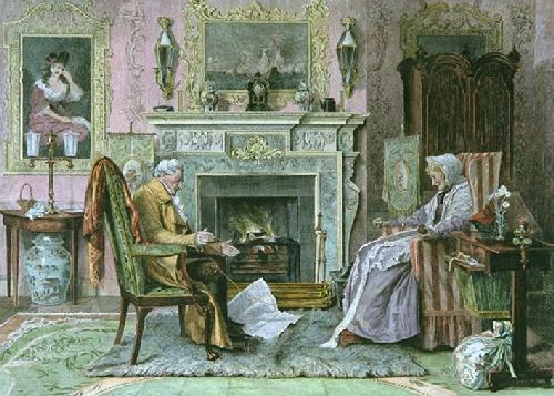 End of the Skein (Restrike Etching) by Walter Dendy Sadler