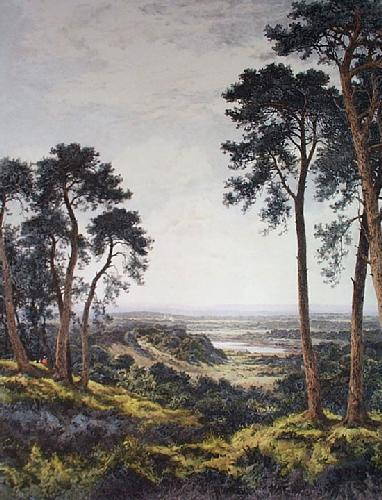 Surrey's Pleasant Hills (Restrike Etching) by Benjamin Williams Leader