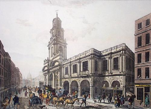 Royal Exchange (Restrike Etching) by Chapman & Lutherburgh