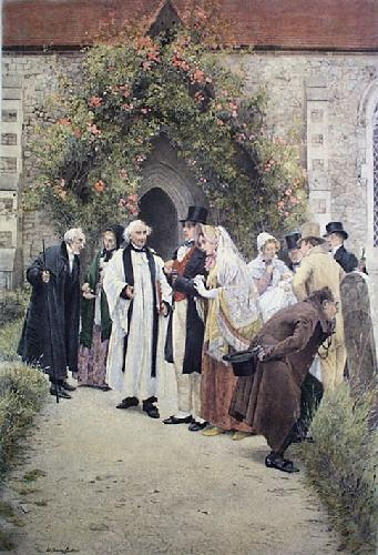 Christening, The (Restrike Etching) by Walter Dendy Sadler