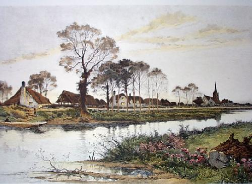 Banks of the Ivy'O (Restrike Etching) by Benjamin Williams Leader