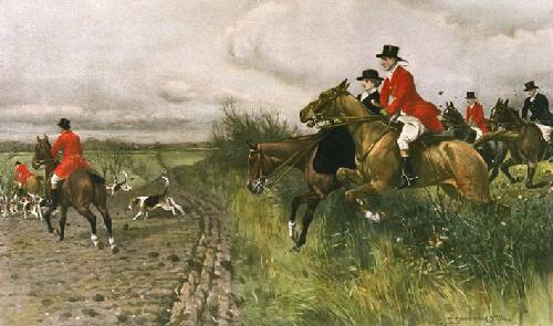 Over Hill and Dale (Restrike Etching) by John Sanderson Wells