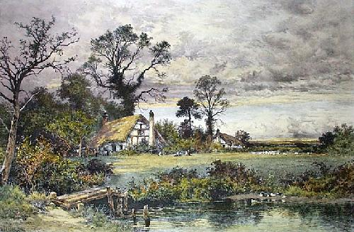 Gleam Before the Storm (Restrike Etching) by Benjamin Williams Leader