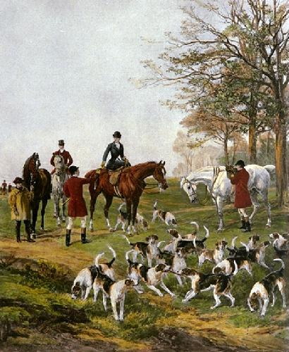 Presenting the Brush (Restrike Etching) by Heywood Hardy