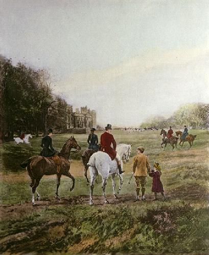 Going to the Meet (Restrike Etching) by Heywood Hardy