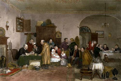 Rent Day (Restrike Etching) by Wilkie