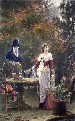 Love or Country (Restrike Etching) by Marcus Stone