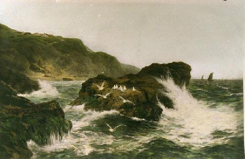 Haunt of the Sea Mew (Restrike Etching) by Peter Graham
