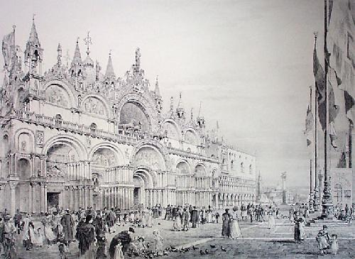 St. Mark's Square (Restrike Etching) by Axel Haig