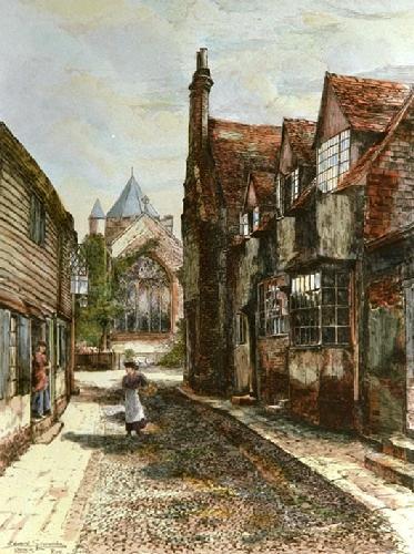 Rye (Restrike Etching) by Edward Slocombe