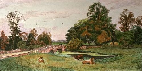 Iver Bridge (Restrike Etching) by Frederick Albert Slocombe