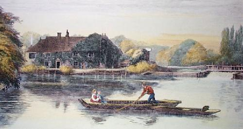 Pangbourne, The Swan (Restrike Etching) by Anonymous