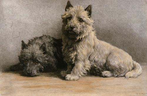 Hope (Two Dogs) (Restrike Etching) by Herbert Thomas Dicksee