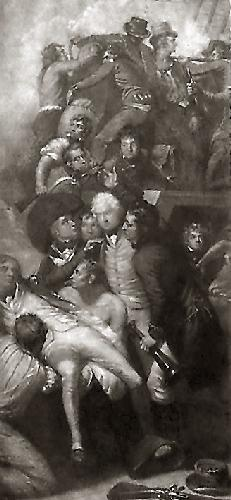 Nelson, Death of (Restrike Etching) by Anonymous