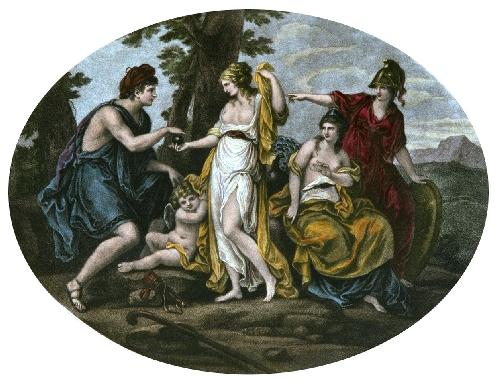 Judgement of Paris (Restrike Etching) by Angelica Kauffmann