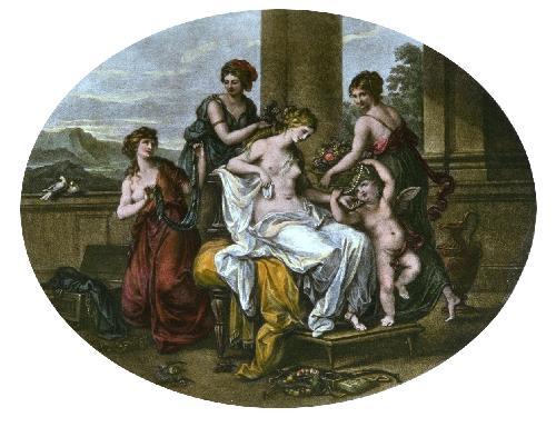 Toilet of Venus (Restrike Etching) by Angelica Kauffmann