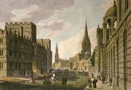 High Street, Oxford (Restrike Etching) by Thomas Taylor