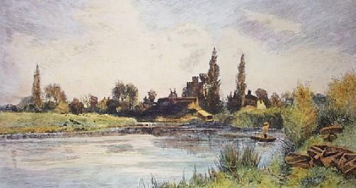 On the Thames (Restrike Etching) by Charles Francois Daubigry