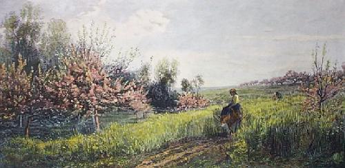 Springtime (Restrike Etching) by Charles Francois Daubigry