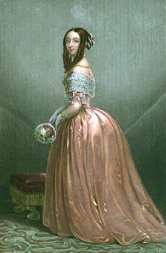 Dress Wearer (Restrike Etching) by RSE Gallon