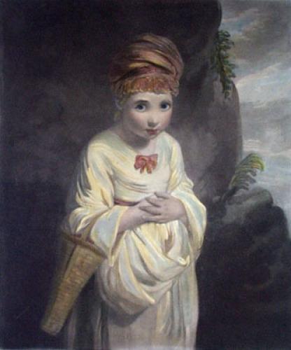 Strawberry Girl (Restrike Etching) by Sir Joshua Reynolds