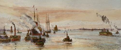 Greenwich Reach (Restrike Etching) by Anonymous