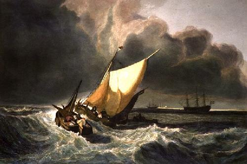 Dutch Fishing Boats (Restrike Etching) by Joseph Mallord William Turner