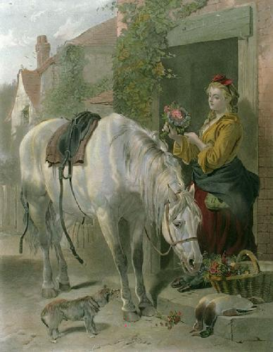 The Gardener's Daughter (Restrike Etching) by Richard Ansdell