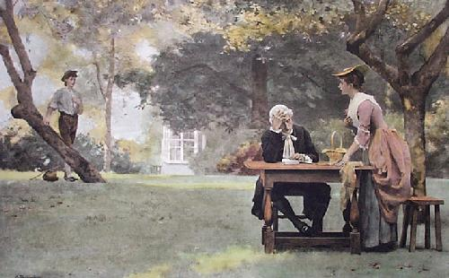 The Prodigals Return (Restrike Etching) by A. Beckingham