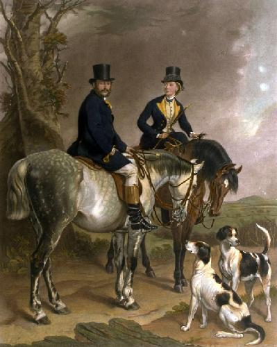Duke & Duchess of Beaufort (Restrike Etching) by Sir Francis Grant