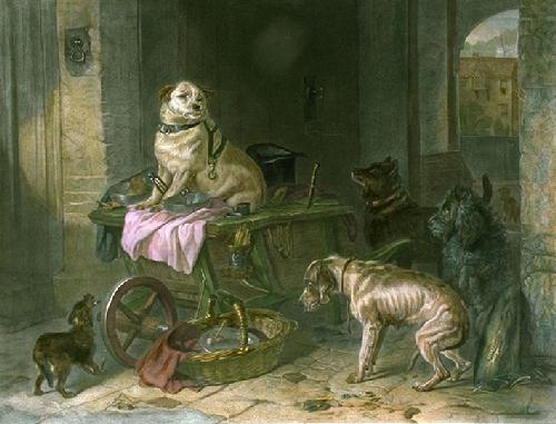 Jack in Office (Restrike Etching) by Sir Edwin Henry Landseer
