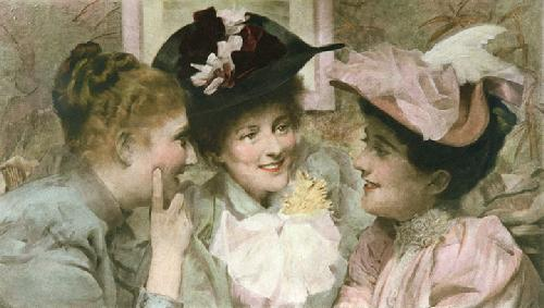 Mischief (Three Girl's heads) (Restrike Etching) by Sir Thomas Benjamin Kennington