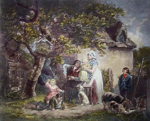 The Cottagers (Restrike Etching) by George Morland